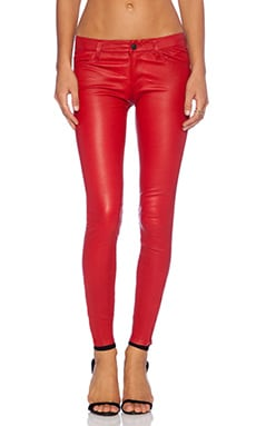 J Brand Leather Jean in Rebel Red