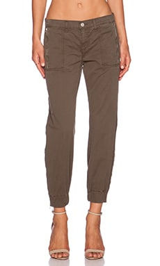 J Brand Tavi Mid Rise Utility Jogger in Jungle
