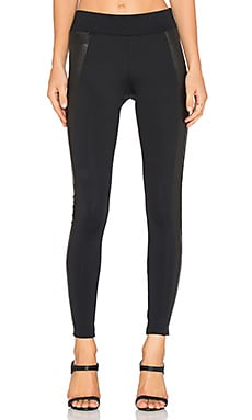J Brand Mugu Side Panel Leather Pant in Black