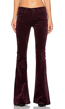 J Brand Bella Kick Flare in Deep Mulberry