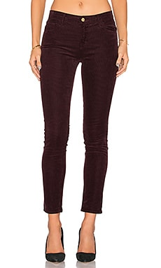 J Brand Mid Rise Skinny in Blackberry