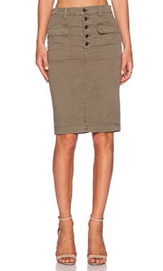 J Brand Ani Utility Skirt in Olive Drab