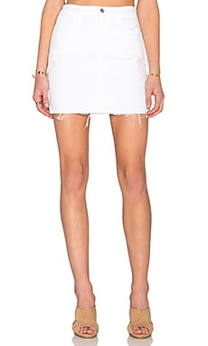 Leila Pencil Skirt in White Destruct