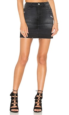 Leila Pencil Skirt en Destructed Anthracite