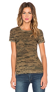 J Brand Janetta Tee in Jungle Green