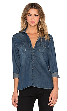 J Brand Ridley Shrunken Classic Shirt in Untamed