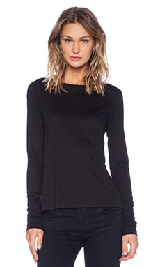 J Brand Thelma Long Sleeve Tee in Black