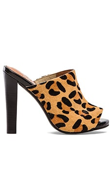 Jeffrey Campbell Curie Heel with Calf Fur in Beige Leopard