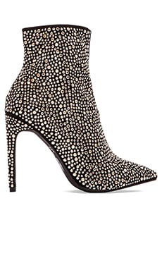 Jeffrey Campbell Vain Heeled Bootie in Black Suede