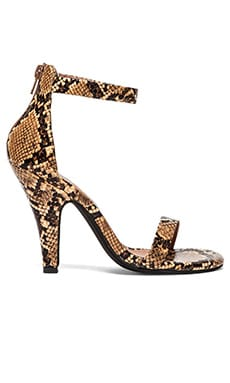 Jeffrey Campbell Burke Heel in Beige Brown Snake