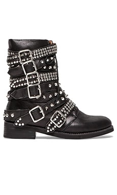 Jeffrey Campbell Cruzados Boot in Black & Silver