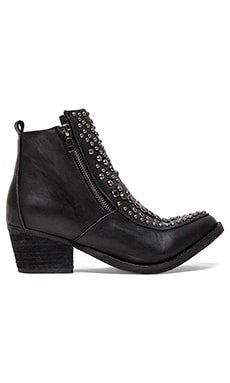 Jeffrey Campbell Sis Mercy Bootie in Black Nubuck Pewter