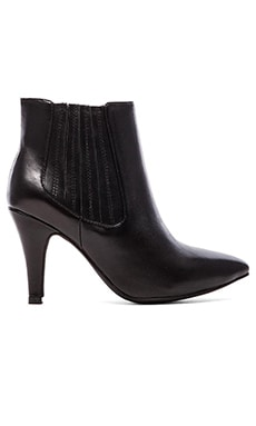 Jeffrey Campbell Suja Heeled Bootie Leather in Black