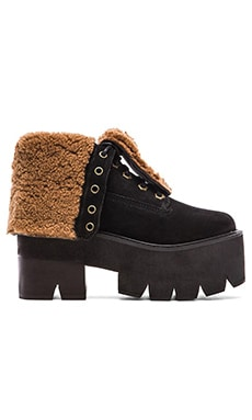 Jeffrey Campbell Nirvana Sneakers in Black Nubuck