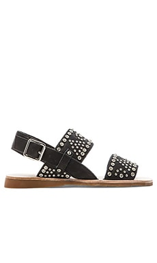 Patras Sandals in Black & Silver