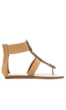 Jeffrey Campbell Zeus Sandal in Nude & Pewter