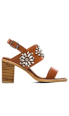 Jeffrey Campbell Dola Embellished Heeled Sandal in Tan