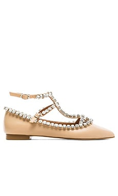 Jeffrey Campbell Gaby Embellished Flat in Nude