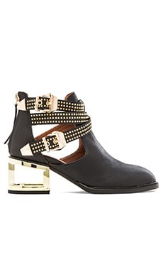Jeffrey Campbell x REVOLVE Everly Bootie in Black & Gold