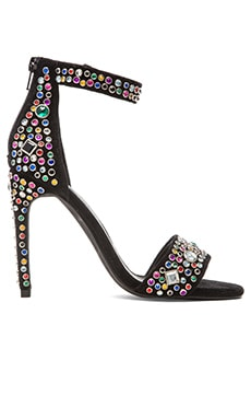 Jeffrey Campbell x REVOLVE Meryl Embellished Heel in Black Suede Multi