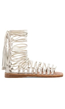 Jeffrey Campbell x REVOLVE Velaria Low Gladiator in White Suede