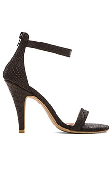 Jeffrey Campbell Burke Heel in Black Matte Snake