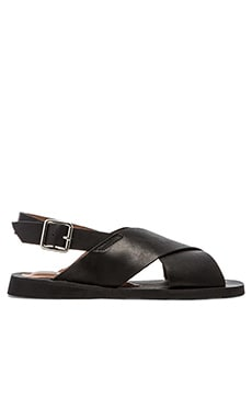 Jeffrey Campbell Maldives Sandal in Black Distressed