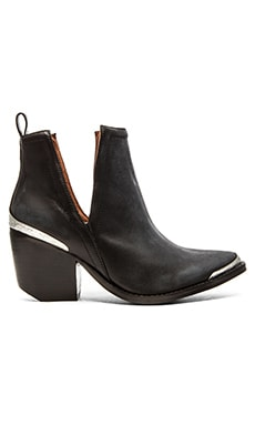 Cromwell Bootie In Black Distressed