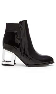 Jeffrey Campbell Jensen Bootie in Black Box Siler