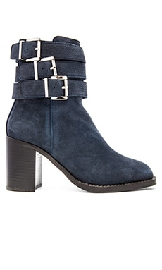 Jeffrey Campbell x REVOLVE Sols Bootie in Navy Numbuck