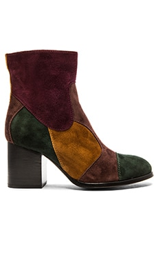 Jeffrey Campbell x REVOLVE Tariq Multi Boote in Green Brown & Wine Suede
