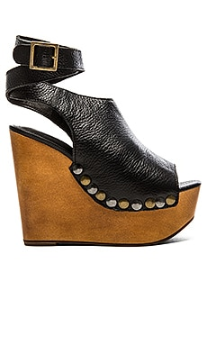 Jeffrey Campbell Nueva Wedge in Black Pebble