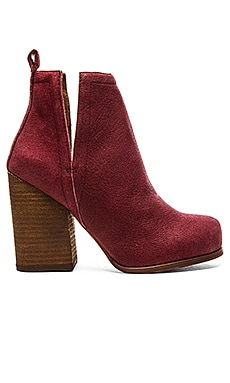 Jeffrey Campbell Oshea Bootie in Wine Pebble Numbuck