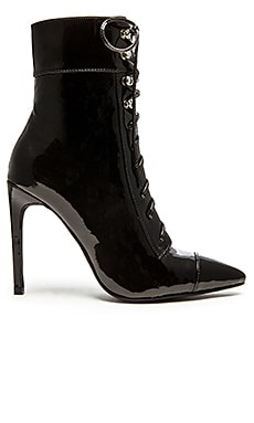 Jeffrey Campbell x REVOLVE Elphaba Heeled Bootie in Black Patent