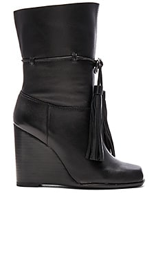 Jeffrey Campbell Larusso Booties in Black Pebble