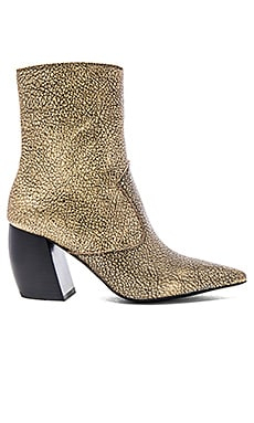 Jeffrey Campbell Dresden Booties in Gold Crinkle