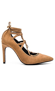 Brielle Hi Heel in Camel Suede
