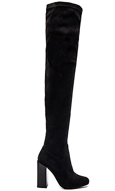 Jeffrey Campbell Perouze Boots in Black Suede with Black Heel