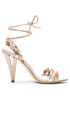 Jeffrey Campbell Twisted Heel in Natural Tan Gold