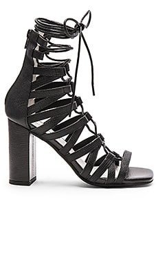 Jeffrey Campbell Stockard Heel in Black Lizard