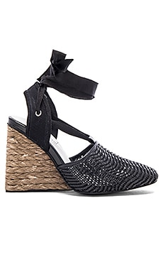 Jeffrey Campbell Esperanza Wedge in Black Woven Combo