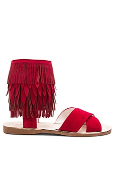 Nerida Sandals in Red Suede