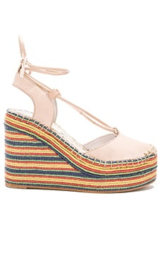 Jeffrey Campbell Rizzoli Wedge in Natural Multi