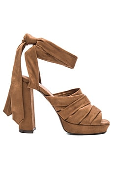 Chablis Heels in Brown Suede