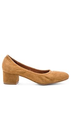 Bitsie Heels in Camel Suede