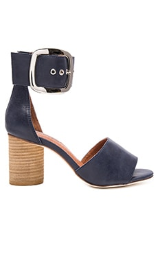 Brendy Sandal in Navy & Silver