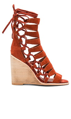 Jeffrey Campbell Zaferia Hi Sandal in Rust Suede
