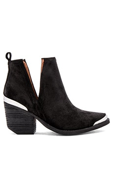 Cromwell Booties in Black Distressed Suede