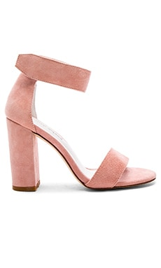 Lindsay Heels in Light Pink Suede