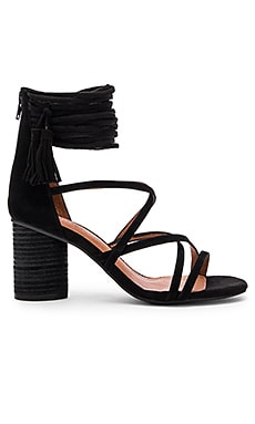 Despina Sandal in Black Suede